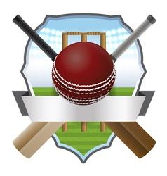 Cricket Badge vector image vector image