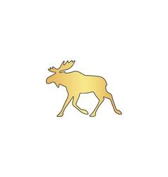 Moose computer symbol vector image vector image