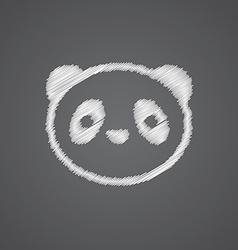 panda sketch logo doodle icon vector image