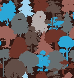 deep forest blue camouflage seamless pattern vector image vector image