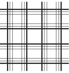 geometric plaid line black and white minimalistic vector image vector image