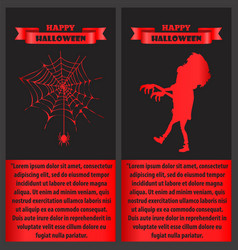 happy halloween with text vector image