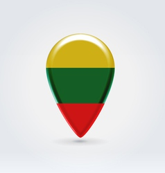 Lithuanian icon point for map vector image