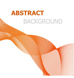 orange line wave abstract background vector image vector image