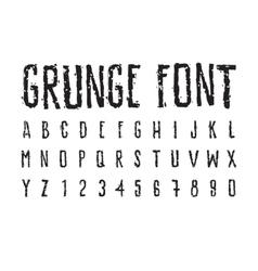 Decorative careless grunge font bold letters vector image