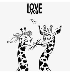 giraffe black vector image