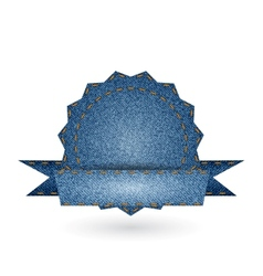 Jeans Badge vector image