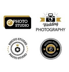 Photographer icons set vector image vector image