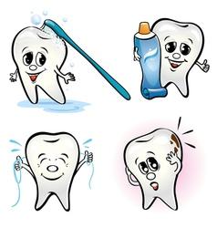 Set of teeth vector