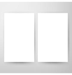 Two Blank Brochure Mockup vector image vector image