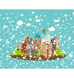 Uk silhouette christmas and new year london city vector