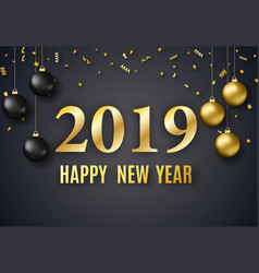 2019 new year background vector image