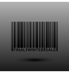 Abstract Barcode Final Winter Sale vector