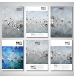 Abstract colored background molecule structure vector
