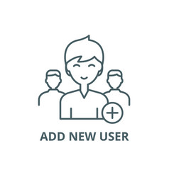add new user line icon add new user vector image