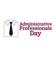 administrative professionals day secretaries day vector image