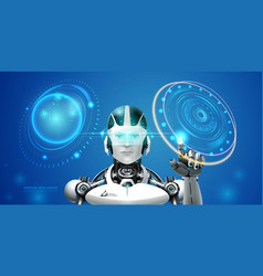 ai technology robot vector image
