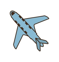 Airplane vehicle flying isolated icon vector