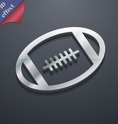 american football icon symbol 3D style Trendy vector image
