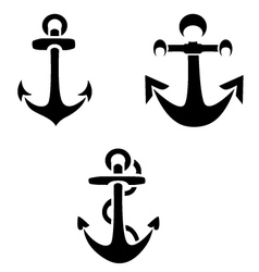 Anchor Silhouettes vector