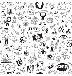 art tools - seamless background pencil drawings vector image