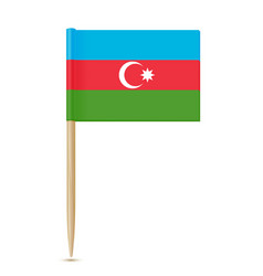 azerbaijan flag toothpick vector image