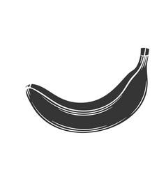 banana glyph icon vector image