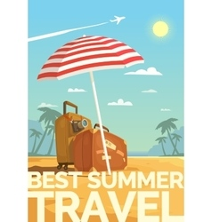 Best Summer travel vector image