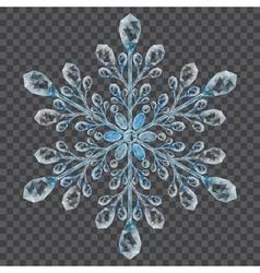 Big translucent crystal snowflake vector