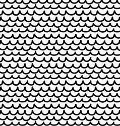 Black marker drawn simple fish skin vector image