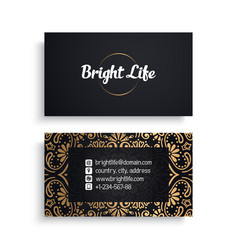 Business card luxury template vector
