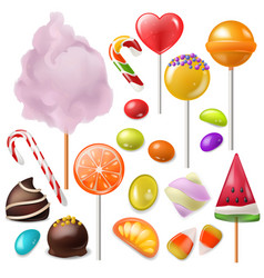 candy sweet food dessert lollipop or vector image