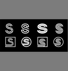 capital letter s modern set for monograms logos vector image