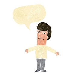 Cartoon annoyed boss with speech bubble vector