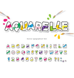 cartoon colorful font for kids creative vector image
