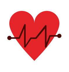 Cartoon hear and cardiogram icon image vector