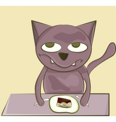 cat with sweets vector image