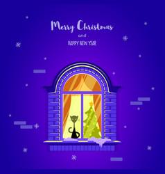 christmas greting card vector image