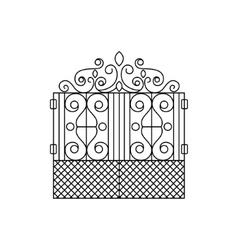 Classic Vintage Lattice Fencing Design vector image