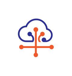 cloud connect logo vector image