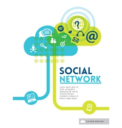 Cloud Social Media Network concept background vector