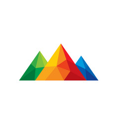 color mountain logo icon design vector image