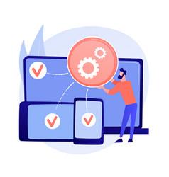 Cross-platform development abstract concept vector