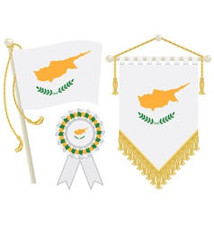 cyprus flags vector image