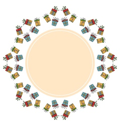 Decorative round holiday frame on the background vector image