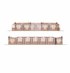 Designing a residential area in city facade vector
