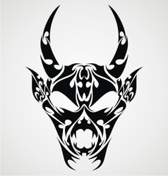 Devil Head Tattoo Design vector image