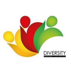 Diversity people design eps 10 vector