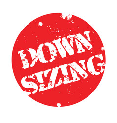 Downsizing stamp typ vector
