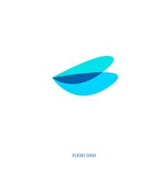 flight logo vector image